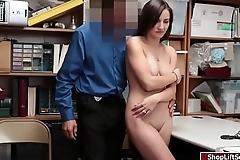 Shoplifter Jade fucked in the office